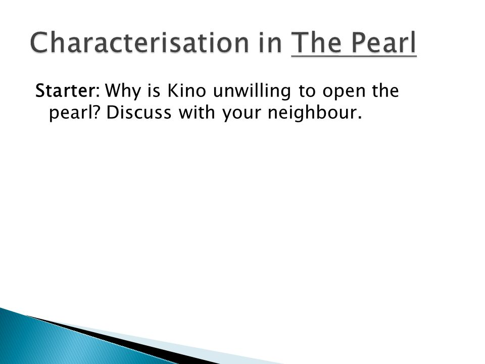 a character analysis of kino an example of a developing character from the story the pearl A list of all the characters in the pearl the the pearl characters covered include:  kino, juana, coyotito, juan tomás,  read an in-depth analysis of kino.