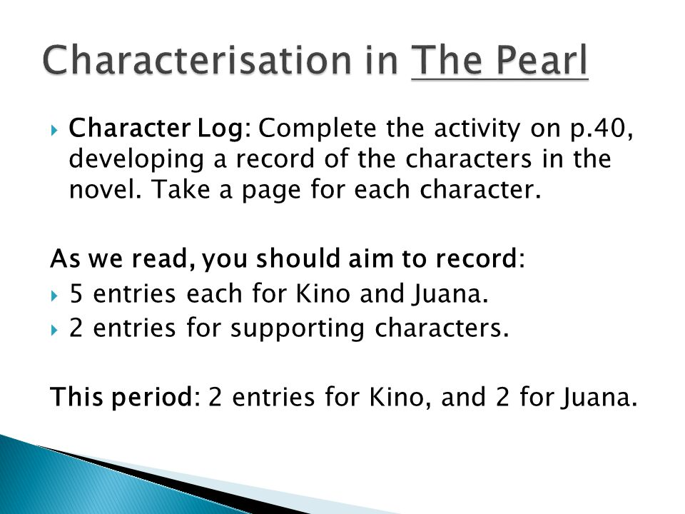 """pearl character analysis Kino, a character from the story """"the pearl,"""" is a prime example of a developing character from the start through to the end, he develops drastically at the beginning, he was thought out to be a good loyal husband but as time went on he became a selfish, greedy person who would do anything for ."""