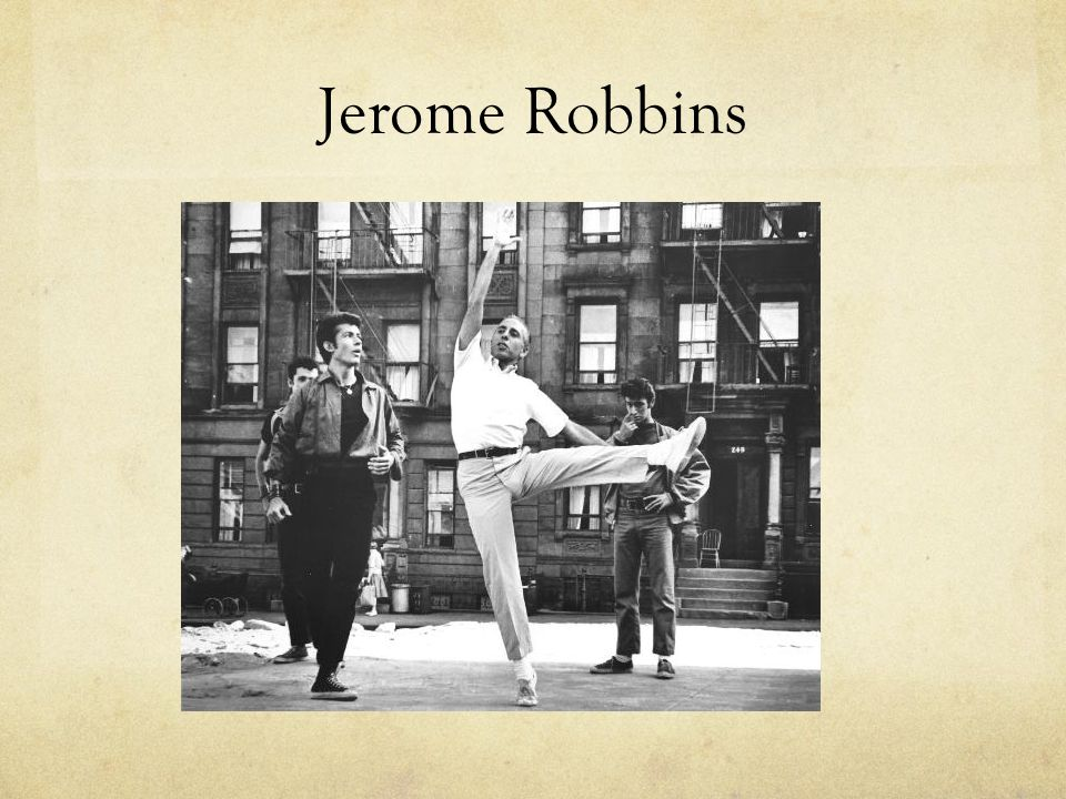 jerome robbins jazz biography essay Groundbreaking choreographer jack cole, the father of theatrical jazz dance, was born john ewing richter in new brunswick, new jersey, in 1911 he died, too young, 63 years later in los angeles.