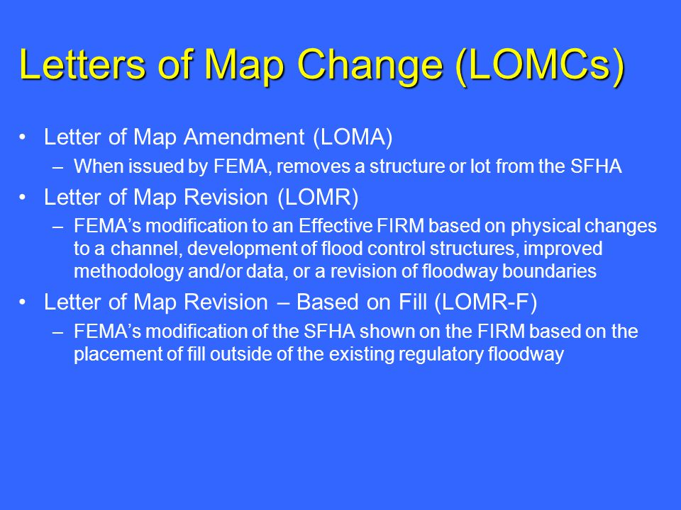 how to get a loma from fema