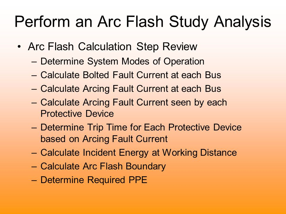 how to perform an arc flash study
