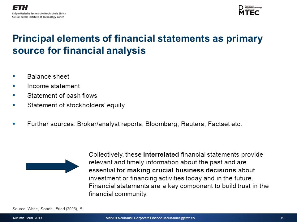 Corporate Finance Interpreting Financial Statements - Ppt Download