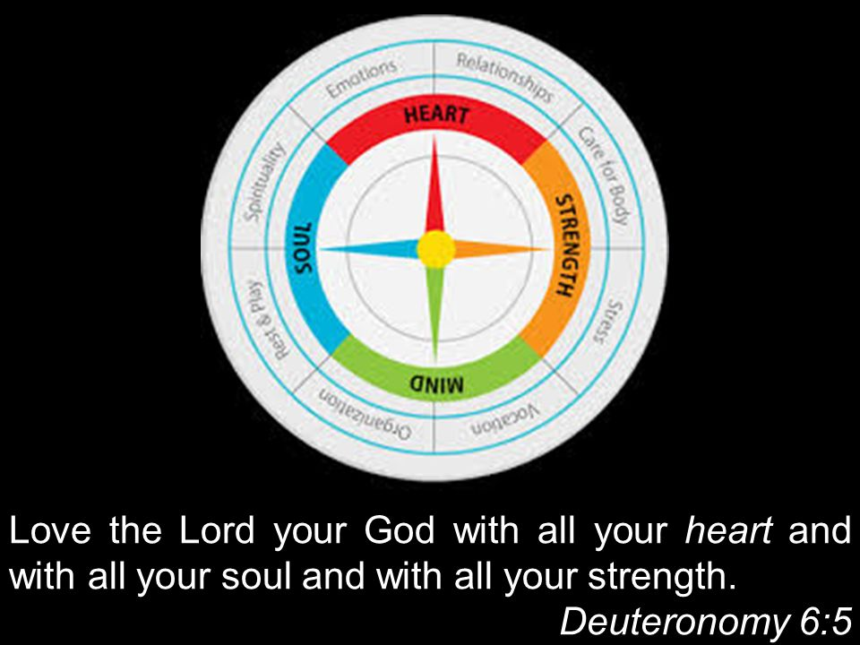 Love the Lord your God with all your heart and with all your soul and with all your strength.