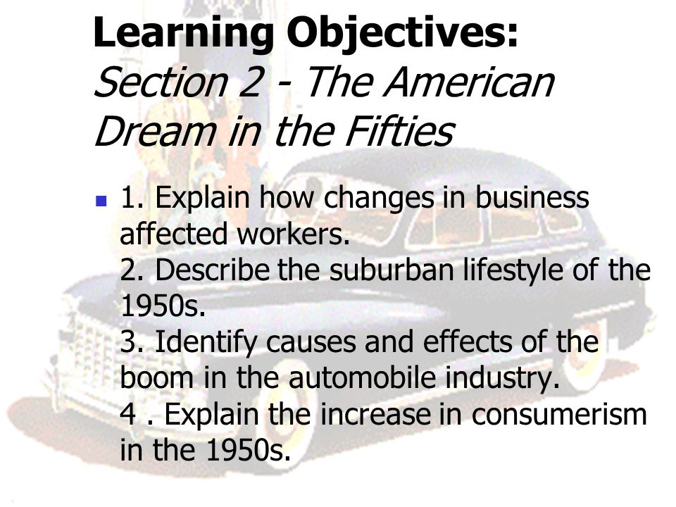 describing the american dream and indicators of ones success The american dream today has drifted far away from that envisioned by the founding financial adviser suze orman described the new american dream as one.