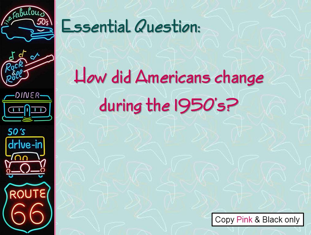 the changes in the american government during the 50s Native americans and the federal government degree of self-government during the course of the would need to change its native american policy.