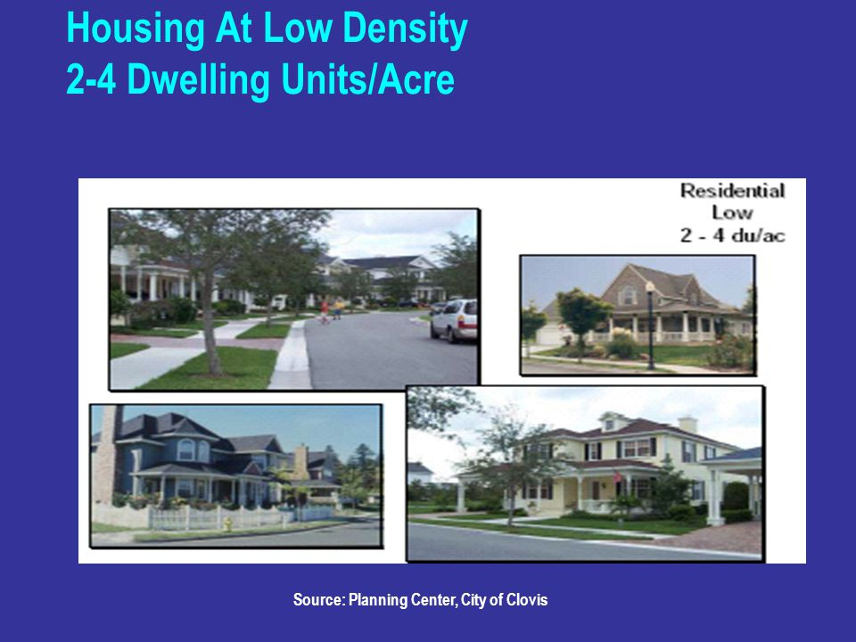 Housing At Low Density 2-4 Dwelling Units/Acre