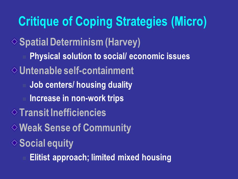 Critique of Coping Strategies (Micro)