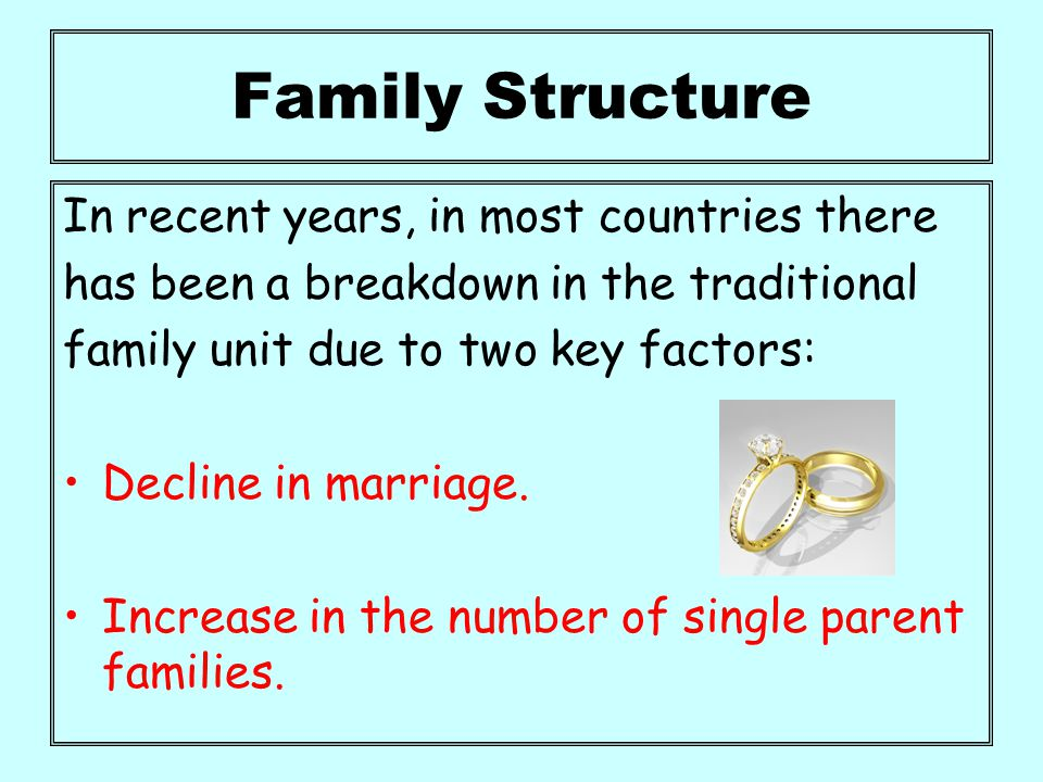 single parent families in different cultures An overview of family development of various cultures as divorces and the number of children being raised in single-parent families.