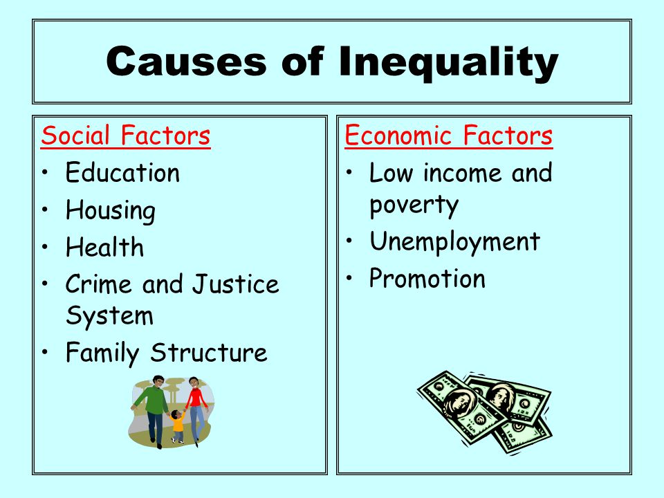 causes and impact of health inequalities Tackling inequalities in health is an overarching aim of all public health policies most countries have ambitious goals for reducing inequalities in health: the united states goes so far as to set the goal of eradicating all inequalities in health by 2010.