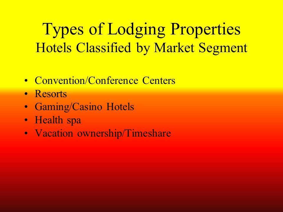 classification of lodging establishment The industry classifications for all establishments covered by the economic census and surveys are based on the north american industry classification system.