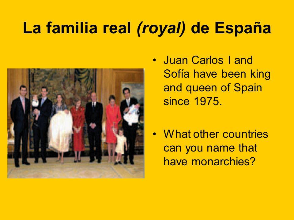 La familia real (royal) de España