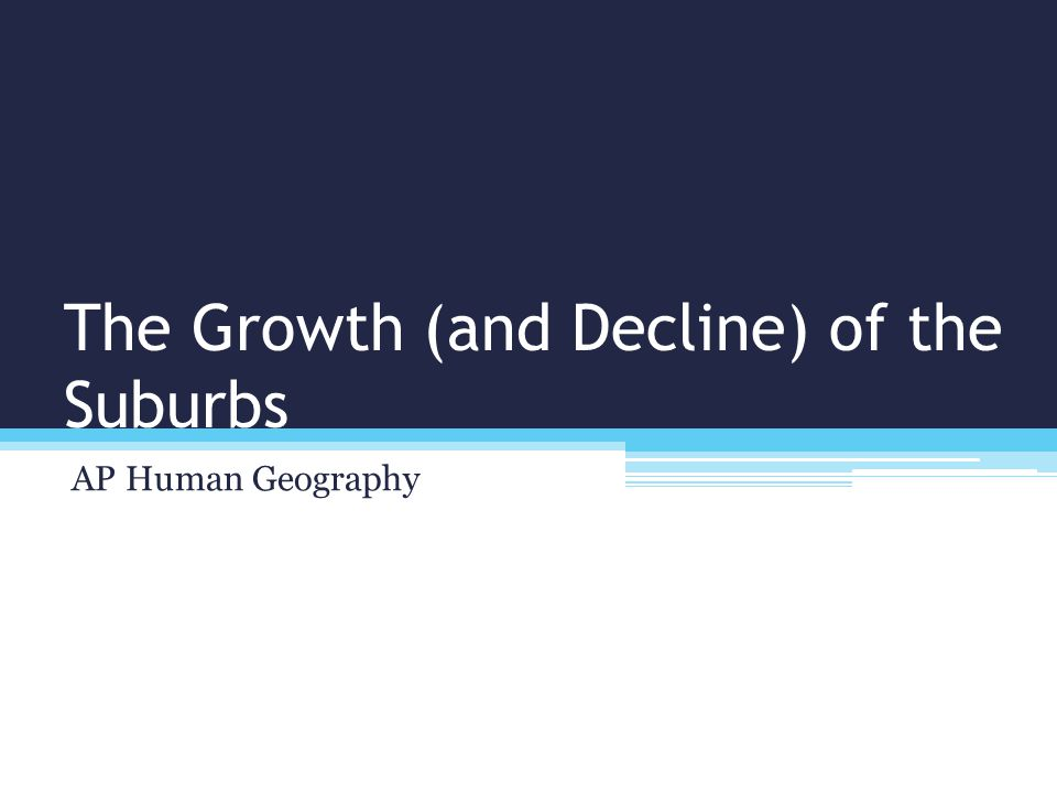 Cities' Growth and Decline
