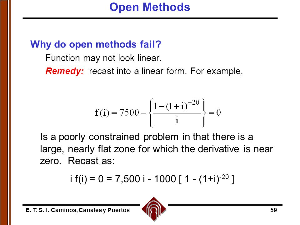 Open Methods Why do open methods fail