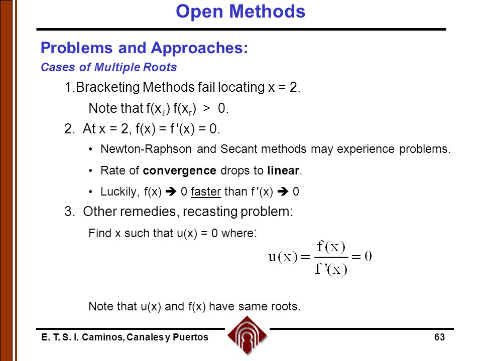 Open Methods Problems and Approaches: