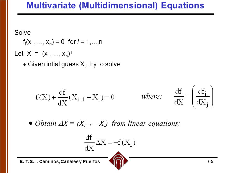 Multivariate (Multidimensional) Equations