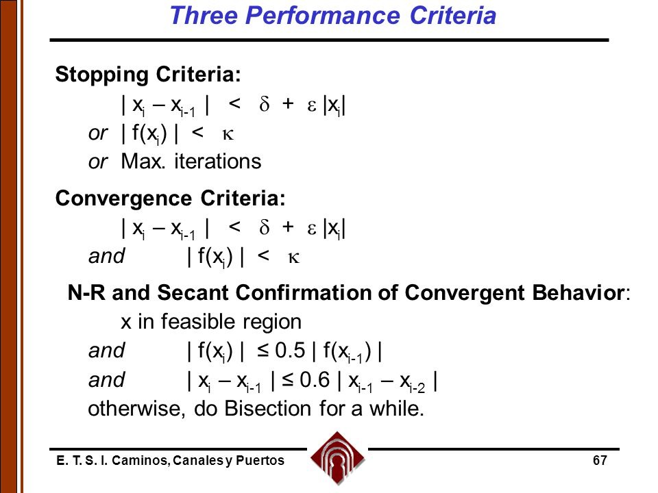 Three Performance Criteria