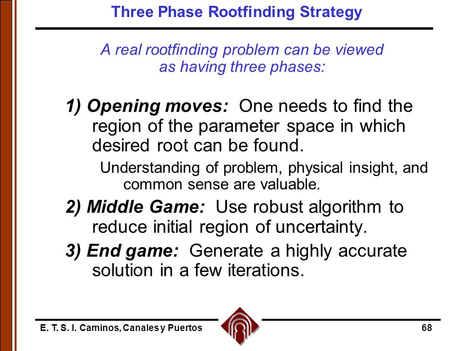 Three Phase Rootfinding Strategy