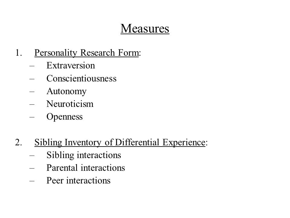 Behavior Genetic Studies of Normal and Abnormal Personality - ppt ...