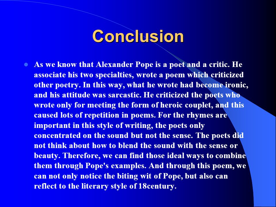 alexander pope Essay Examples