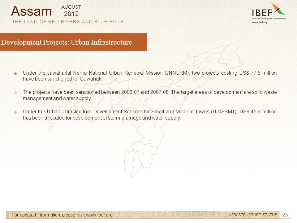 Assam Development Projects: Urban Infrastructure 2012