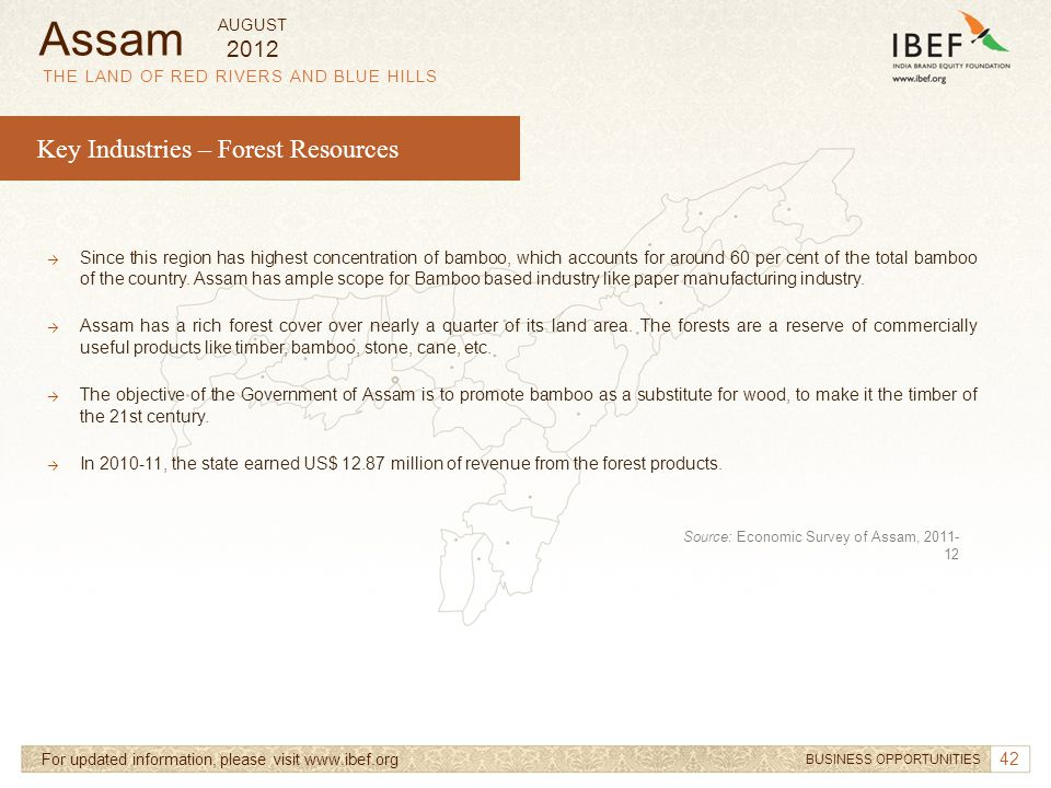 Assam Key Industries – Forest Resources 2012