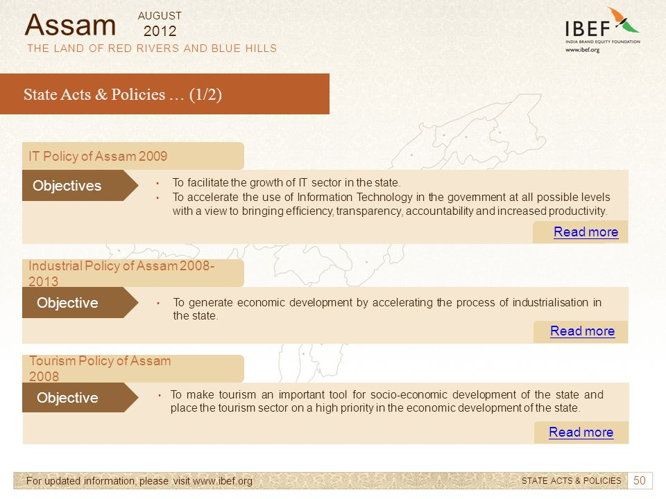 Assam State Acts & Policies … (1/2) 2012 Objectives Objective