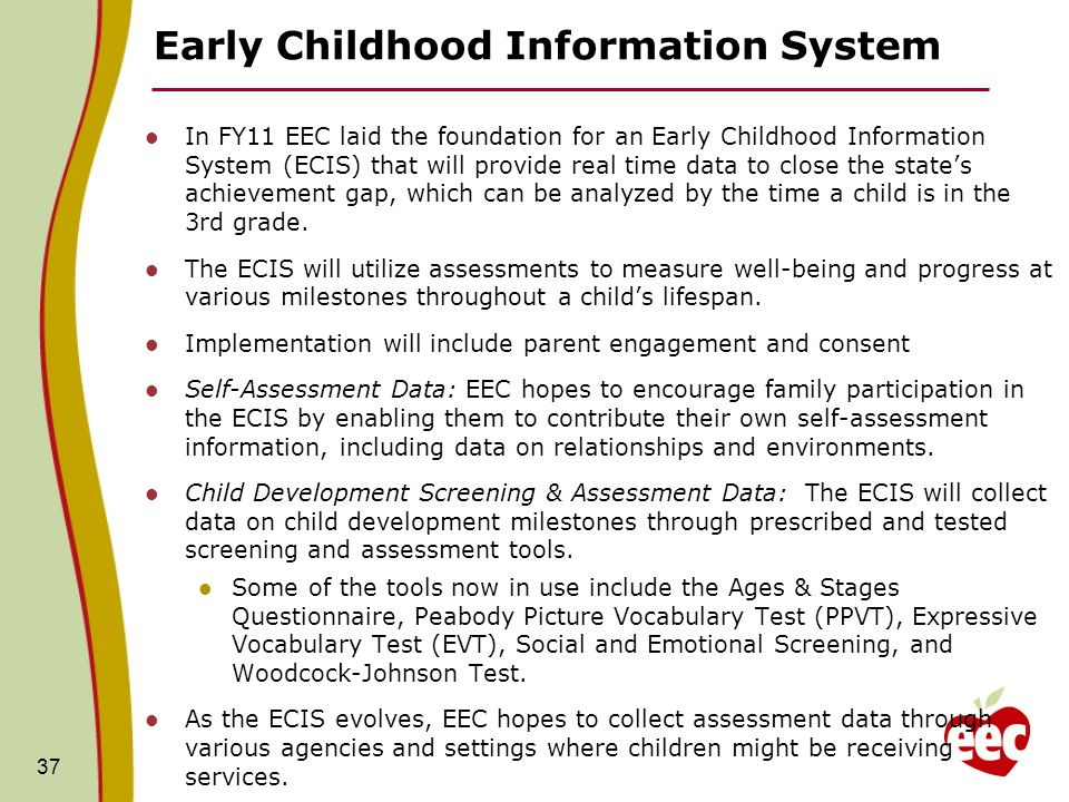 Department of early education and care initiatives september ppt early childhood information system sciox Choice Image
