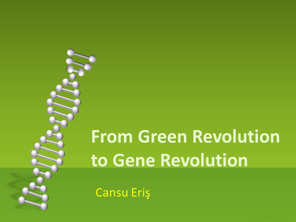 From Green Revolution to Gene Revolution