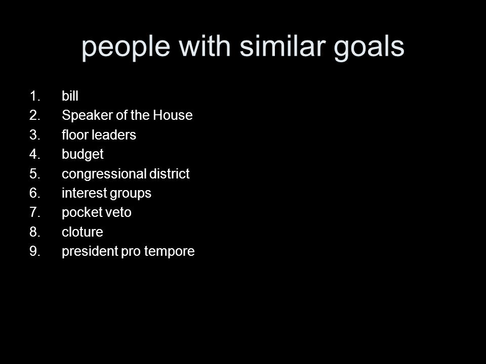 people with similar goals