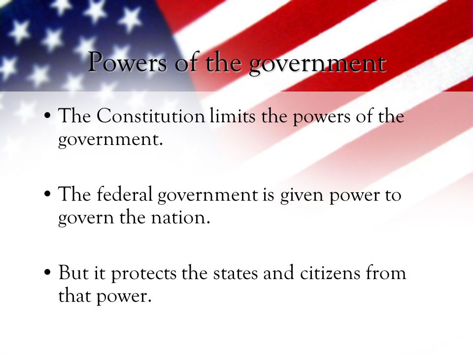 Powers of the government