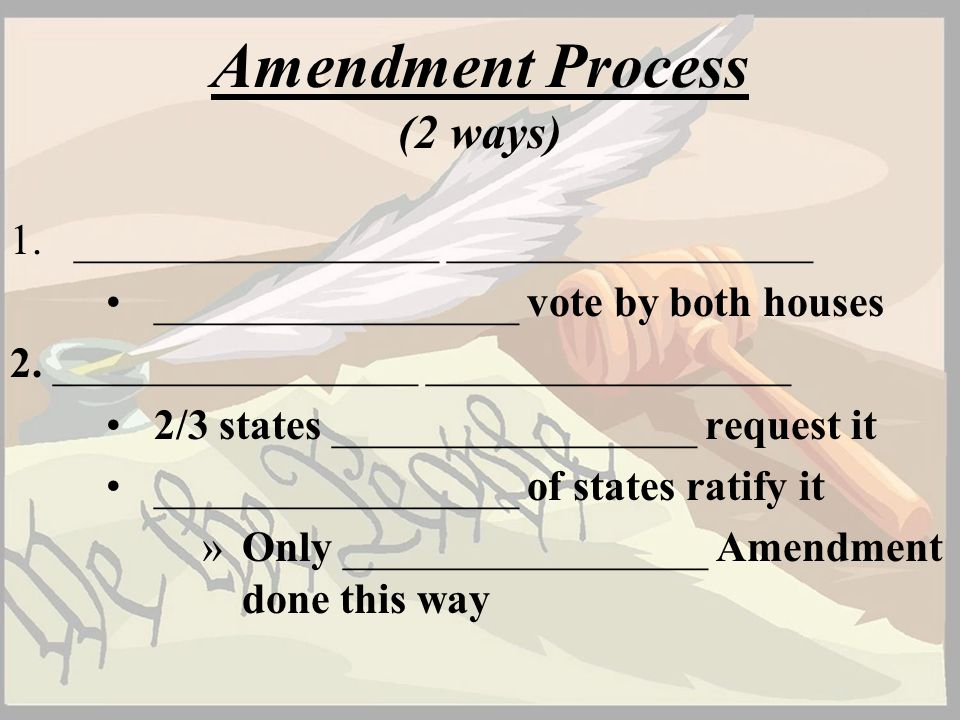 Amendment Process (2 ways)