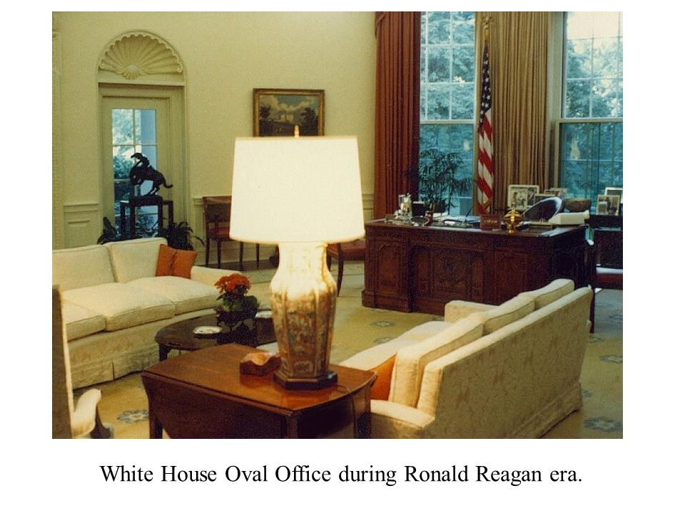 White House Oval Office during Ronald Reagan era.