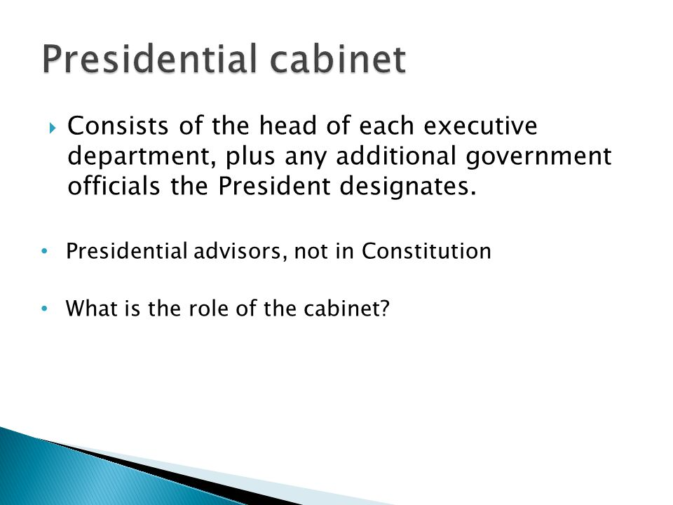 Executive Branch. - ppt video online download