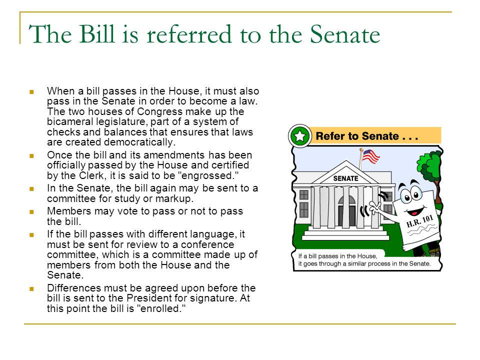 The Bill is referred to the Senate