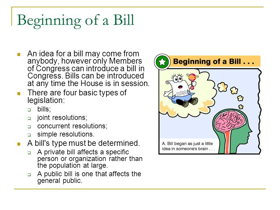 Beginning of a Bill