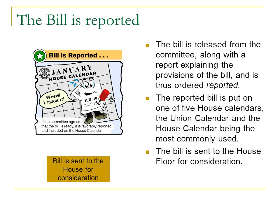 Bill is sent to the House for consideration
