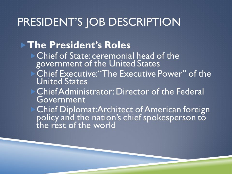 The Presidency Chapter Ppt Video Online Download