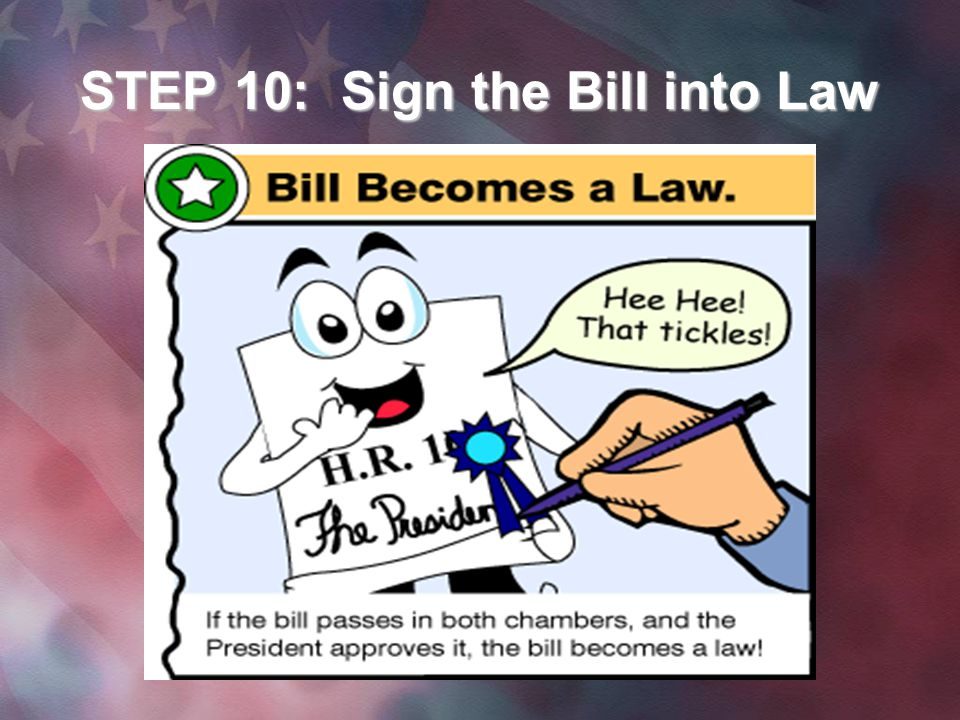 STEP 10: Sign the Bill into Law