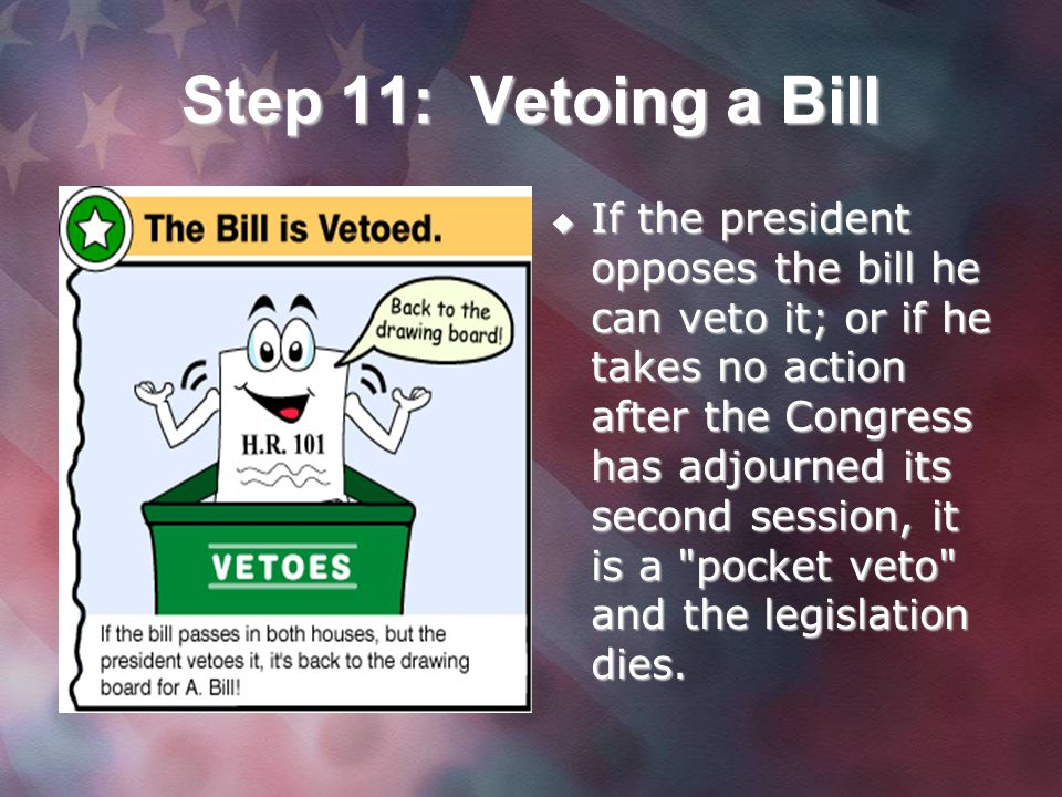 Step 11: Vetoing a Bill