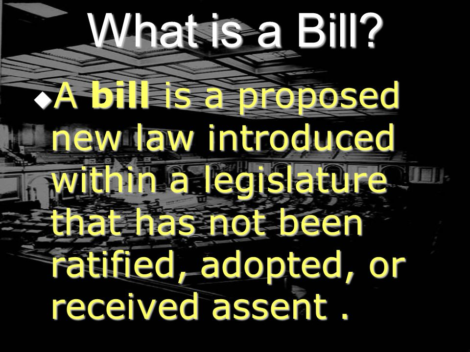 What is a Bill.