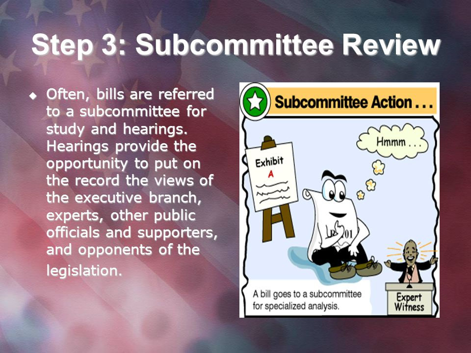 Step 3: Subcommittee Review