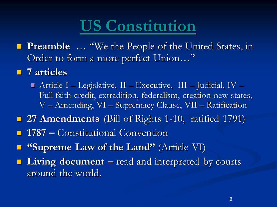 us constitution living document