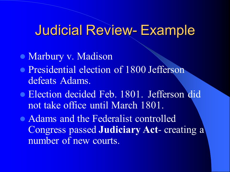 Judicial Review- Example