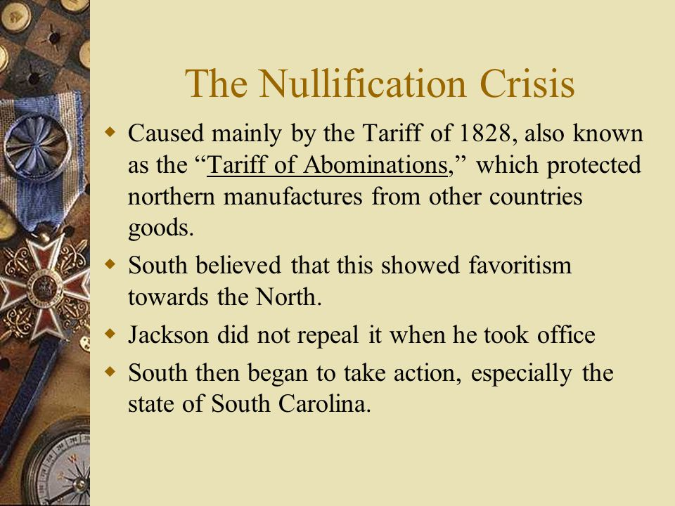 andrew jackson nullification crisis essay This essay explores the deeply andrew jackson's nullification proclamation and the nullification crisis had serious long-term repercussions and.