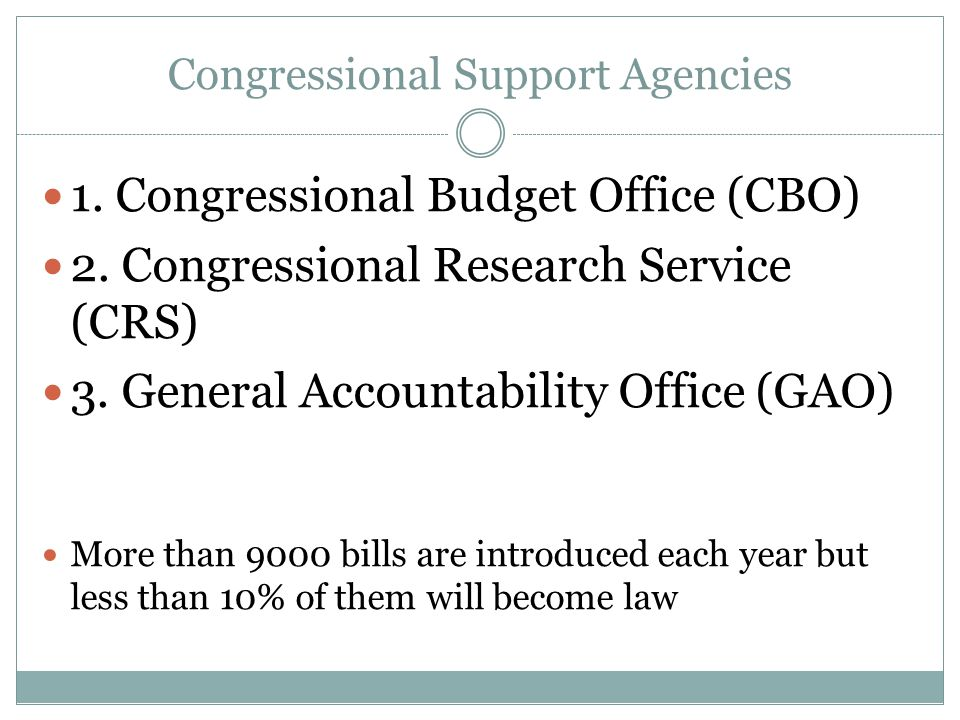 Congressional Support Agencies