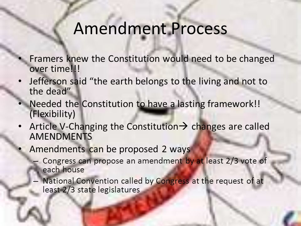the manipulation and amendments of the constitution by the framers The first 10 amendments to the constitution contain the bill of rights  the framers of the constitution and the republicanism the constitution is the supreme law.
