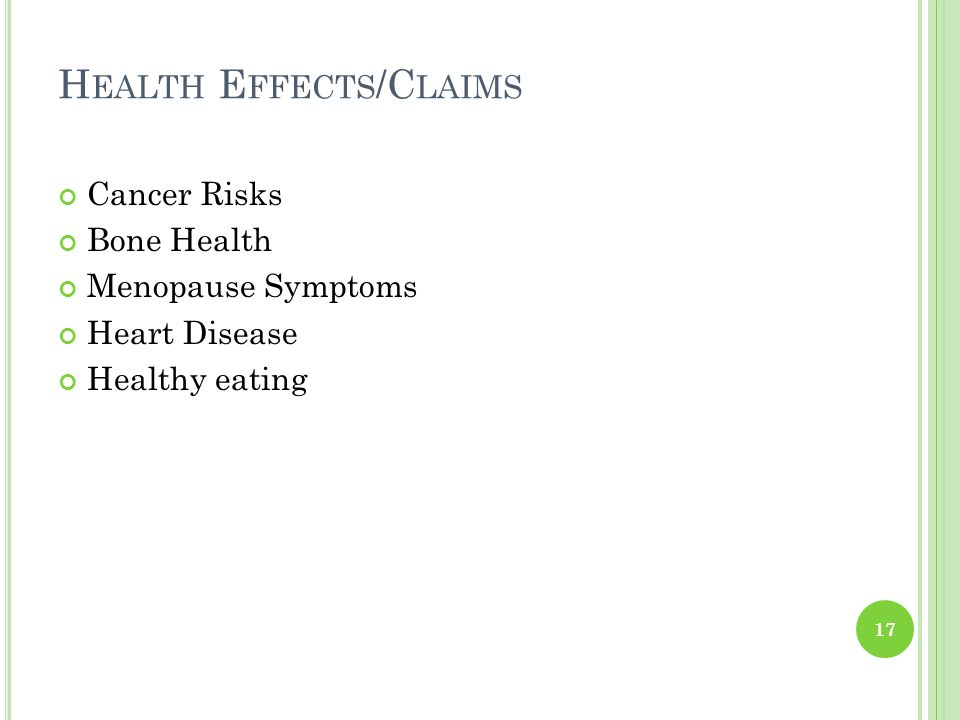 Health Effects/Claims