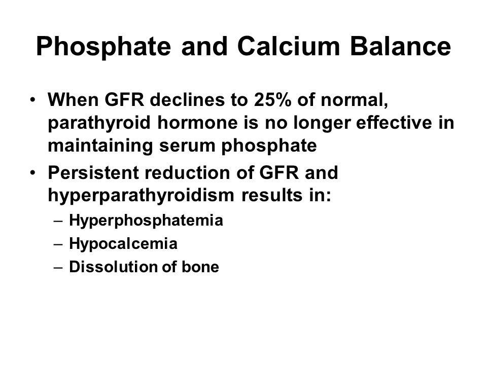 Phosphate and Calcium Balance