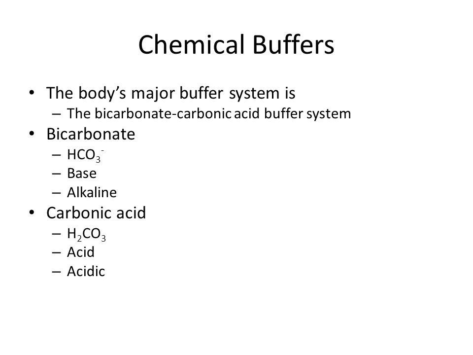 chemical buffer