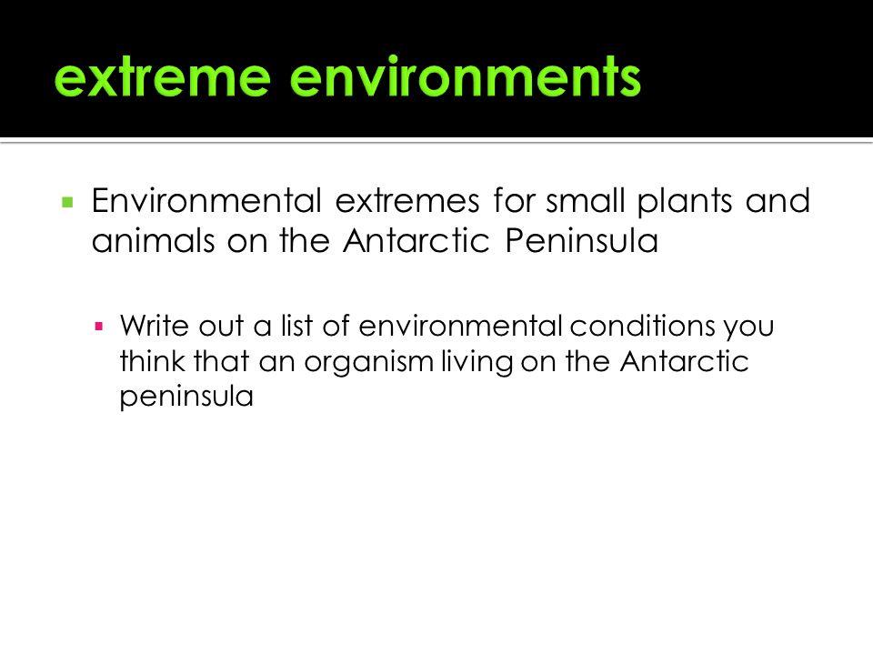 Homework help on extreme environments